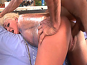 Bitch in cellophaneget a brutal pounding!!!