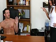 A naked guy gets dominated by two clothed chicks