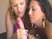 "After getting a lil tipsy at a party next door these horny housewives Victoria and Jackie decide they wanna jerk jizz before thier husbands gets home! ""Hurry up Jackie I wanna see this cock burst"" Watch as these two amatures force gallons of cum from the"