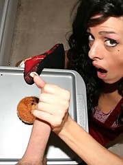 "Hot housewife Arianna Labarbara forgot to buy frosting for her delicious homemade muffins. Ooops! No worries, this sexy babe will just jerk out a massive load of jizz from her neighbor! ""I wanna see you bust a nut on my muffins....Yum"" ....says Arianna!"