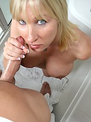 Hot Mommy Keri Lynn gets naked and nasty after coming home from a hard days work. The hot mom suprises the pool boy Billy and things get out of hand