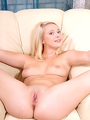 Hot virgin model Lilith Lee strips off her pink undies and spreads off her pink juicy snatch