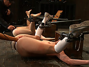 Two 19yr old hot blonds bound, tortured, and made to cum, fisted!!