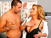 Hot blonde doctor gets pounded by her patient