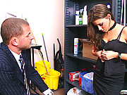 Sexy slut is late, and gets punished by the boss
