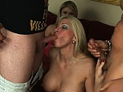 When a young horny guy wants to wife swap for a little MILF action, sometimes one member of the group is little hesitant.