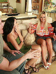 A little spat between neighbors turns into a wife switching slamfest as The Brooks and the Kaises swap wives for a little fence mending and a whole lot of pussy pounding.
