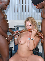 This pretty secretary called us for a black cock delivery and you bet your ass she got it in spades.