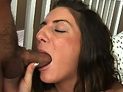 Taylor isn't too happy that she constantly needs to clean up after her roommates, so these two studs decide to make it up to her by scrubbing her AWESOME ANUS with their huge cocks.
