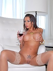 Porn star rachel star share her champagne pussy in these lesbian high class porn fucking pics