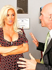 Diamond Foxxx fucking Johnny Sins big hard cock
