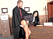 Miss Parker slammed by the big dick of the law
