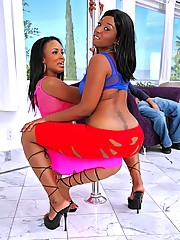 2 smoking hot big ass stripper hot pants babe share a hard cock in this hot stripper pole 3some fucking cumfaced picset