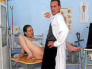 Doctor experimenting with a willing hot babe