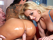 Delicious babe gets surprised with a massive load of cum!