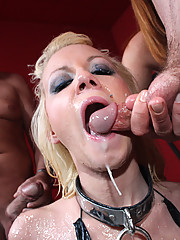 Dirty slut gets roped, fucked, and disgraced with huge cumshots!