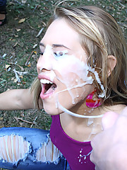 Kimberly the slut gets pounded and rewarded with a thick facial blast!