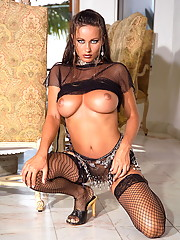 Kyla Cole in some serious sexy stockings