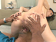 Petite Mina Lee Stretches Tiny Pussy Over Huge Cock