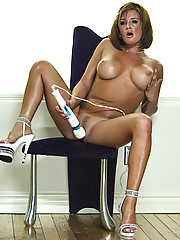 """Tory Lane Plays With Vibrator After Stripping Down And Posing On A Chair"""
