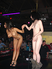 """Katsuni Strip Dances At Club With A Lucky Lady In This Teasing Photo Set"""