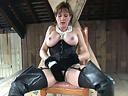 Big tits mature dominatrix handjob