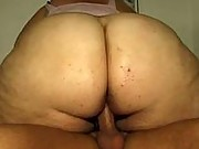 Trashy BBW in hardcore fuck action