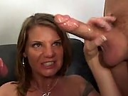 Big tits mature chick double dicked