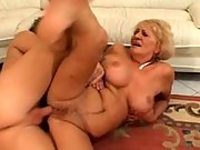 Busty granny fucked and facial cumshot
