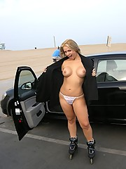 She takes her car to get nude at the beach