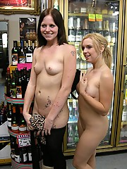 Two girls flashing all over Los Angeles