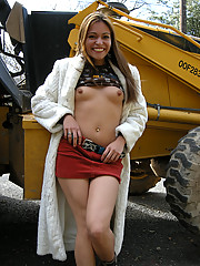 Tight Latina flashing her naughty bits on the streets of Texas