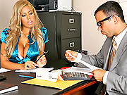 Amazing big tits blonde irs babe gets fucked hard against her desk in these office refund check fucking vids