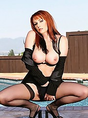 Super hot big tits babe kylie ireland gets pounded and cumfaced at the pool in these mega dong fucking pics