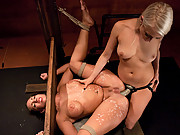 Big tits and ass gets punished and anal sex bondage.
