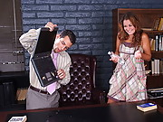 Allie Haze is upset that her Professor failed her so she decides to thrash his office up.  Mikey Butders walks in and finds her messing up the place.  Allie doesn