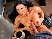 Shay Sights gets her cream for the coffee from Johnnys big cock