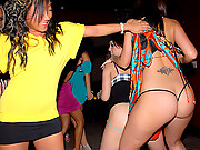 Hot big tits blonde and mini skirt babes get fucked in these club after hour partys