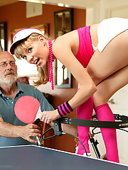 Dirty old fart getting his way with a teen girl