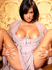 Tory Lane plays with her pussy in her new dress in this photo set