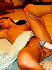 Horny cunt fucked hard on the massage table