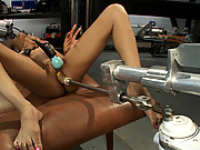 Amateur black babe gets railed my jack rabbit fucking machines and a robot with 7 inch mechanical cock.
