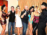 3 hot fucking mini skirt milfs get fucked hard at this dress up party 4 hot vids