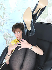 Pantyhosed mature leggy mistress