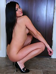 Cierra strips down after coming home from a night of dancing