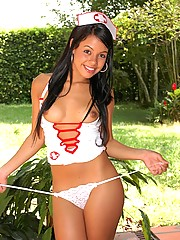Gigi is a naughty nurse who cums are to make you feel better