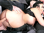 Big Booty girl loving the big cocks in her ass