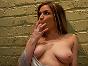 Girl next door, Lindsey Grant explodes in orgasms from BDSM.