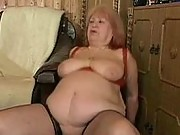 Fat old granny fucking on top