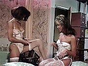 Two chicks horny retro lesbian action movies